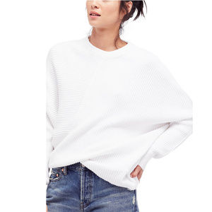 FREE PEOPLE Downtown Ribbed Asymmetrical Sweater M